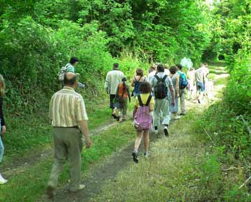 Balade à pied camping Dordogne