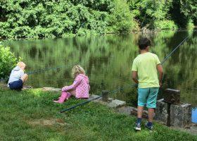 pêche en étang camping Périgord